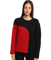 tibi - Cozy Boucle Colorblock Sculpted Top