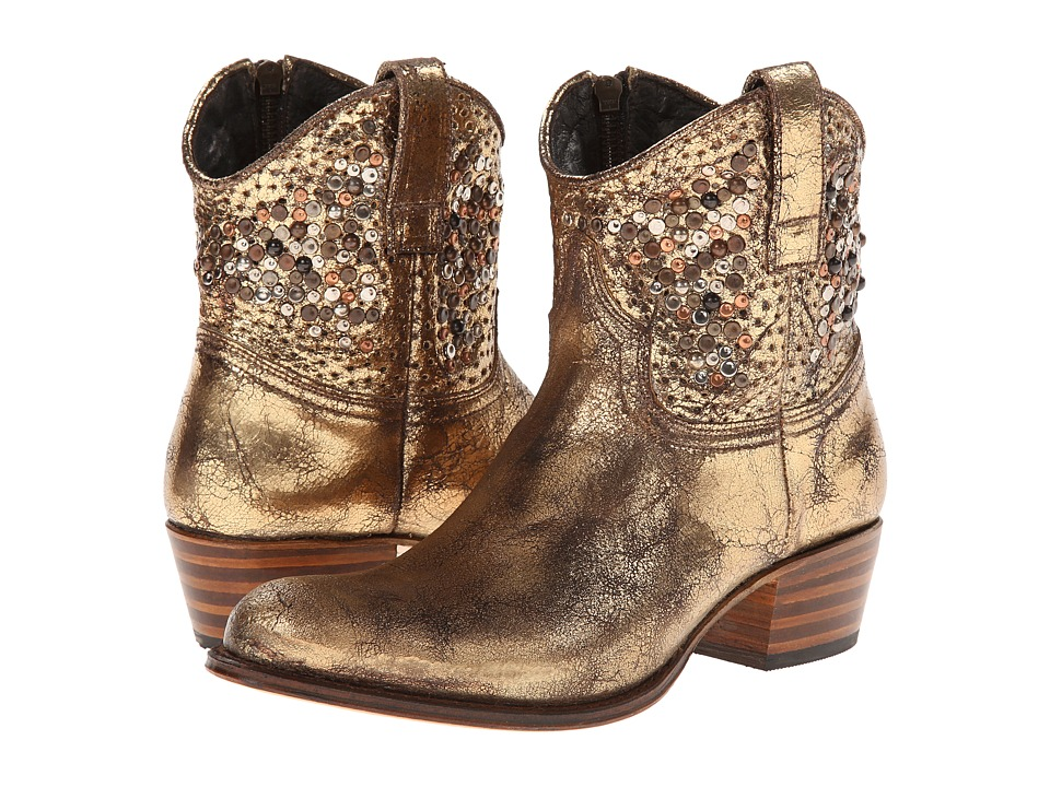Frye - Deborah Studded (Gold Glazed Vintage Leather) Cowboy Boots
