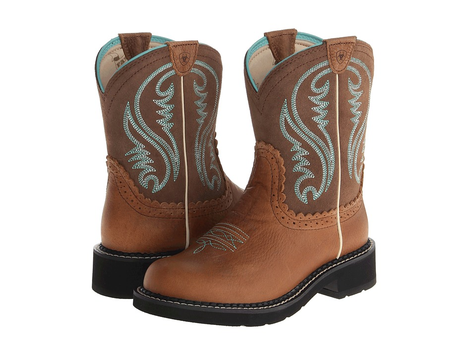 Ariat Fatbaby Sheila (Tan Rowdy/Tan) Cowboy Boots