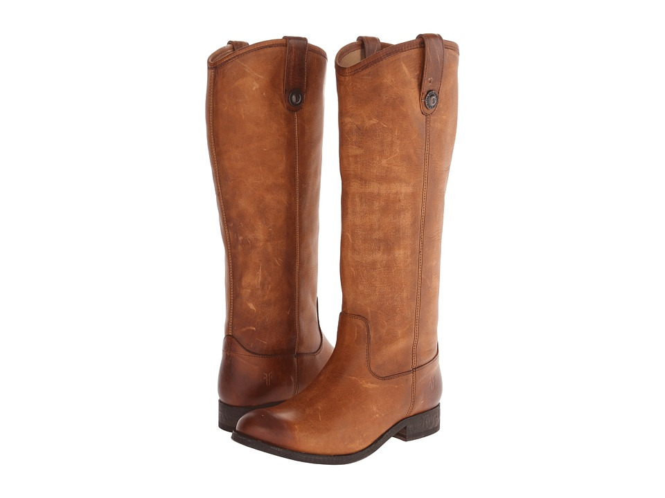 Frye Melissa Button (Cognac Washed Antique Pull Up) Western Boots