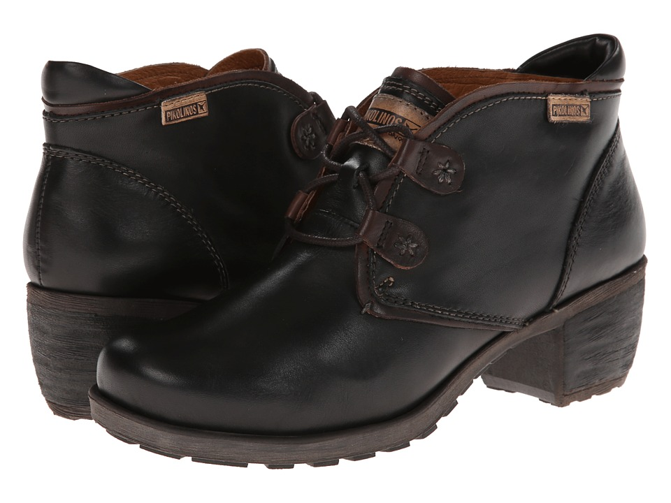 Pikolinos Le Mans 838-8657 (Black 2) Women's Lace-up Boots