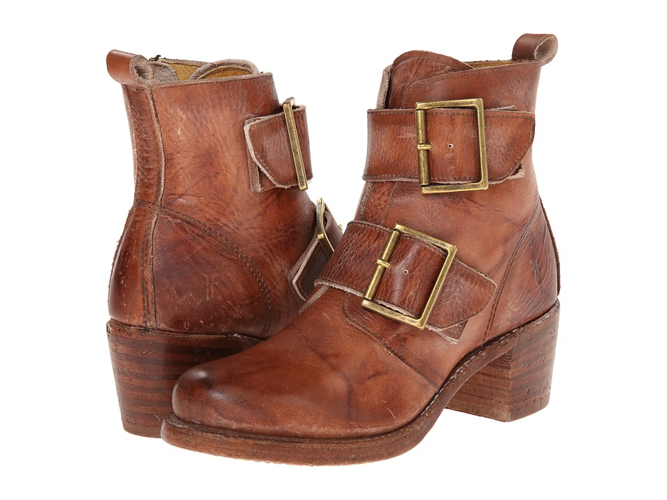 Frye - Sabrina Double Buckle (Saddle Montana Stone Wash) Cowboy Boots