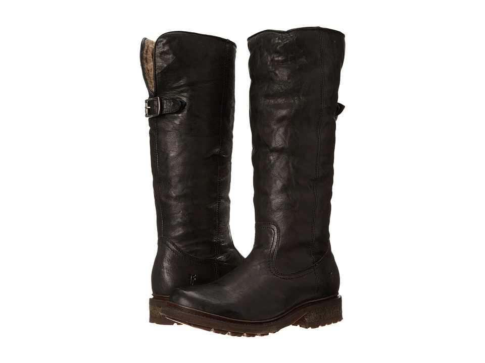 Frye - Valerie Pull On (Black Antique Soft Vintage/Shearling) Cowboy Boots