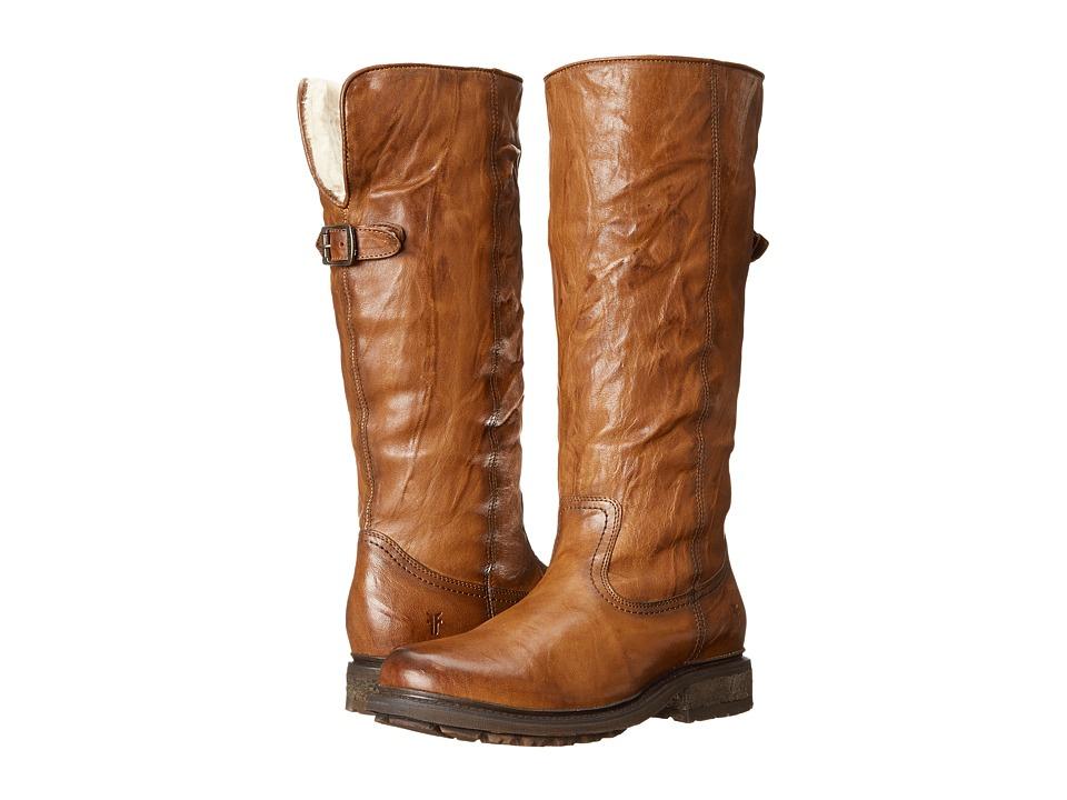 Frye Valerie Pull On (Cognac Antique Soft Vintage/Shearling) Cowboy Boots