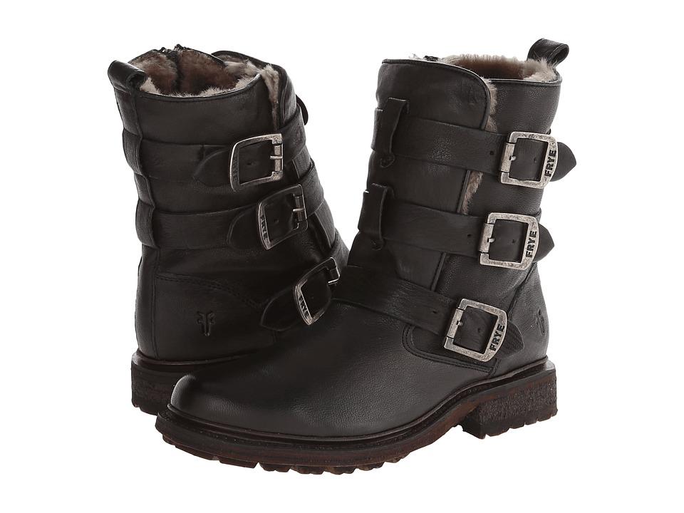 Frye - Valerie Strappy (Black Antique Soft Vintage/Shearling) Cowboy Boots