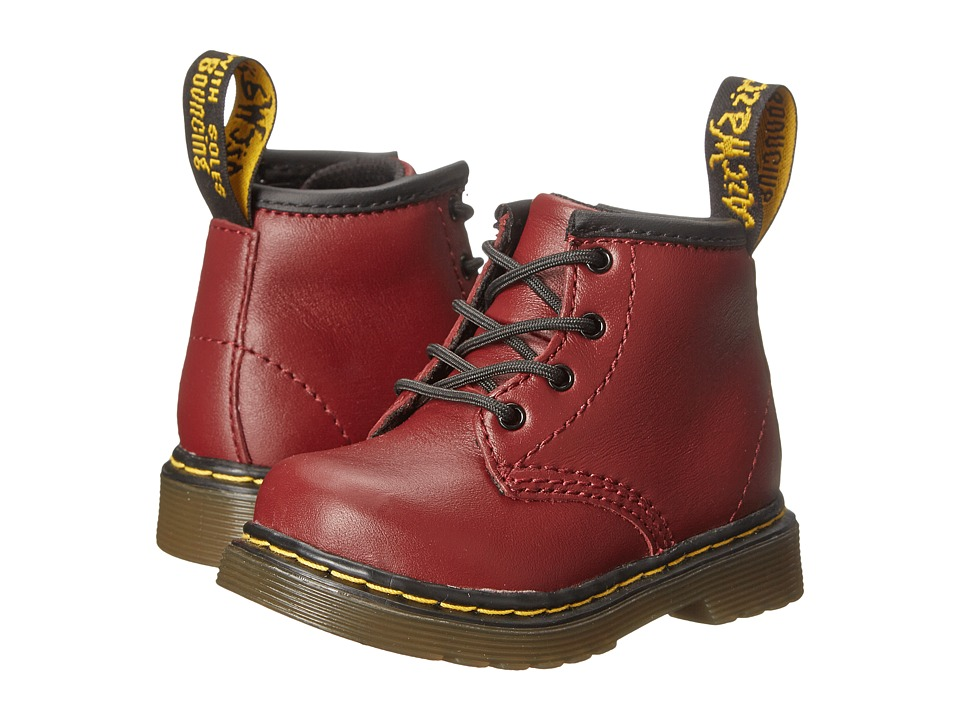 Dr. Martens Kids Collection Brooklee B 4 Eye Lace Boot Toddler Cherry Red Softy T 2 Kids Shoes