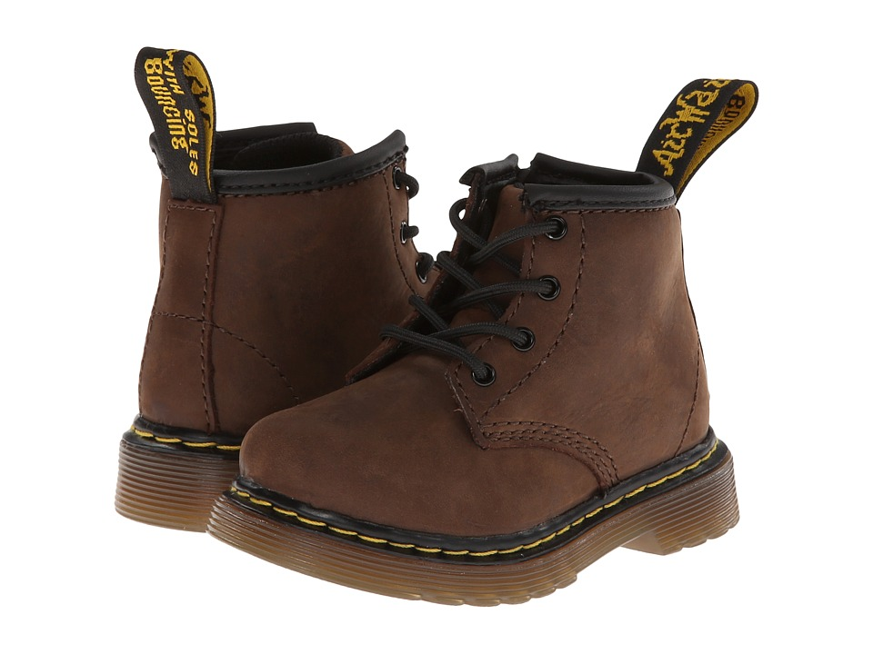 Dr. Martens Kids Collection Brooklee B 4 Eye Lace Boot Toddler Dark Brown Burnished Wyoming Kids Shoes