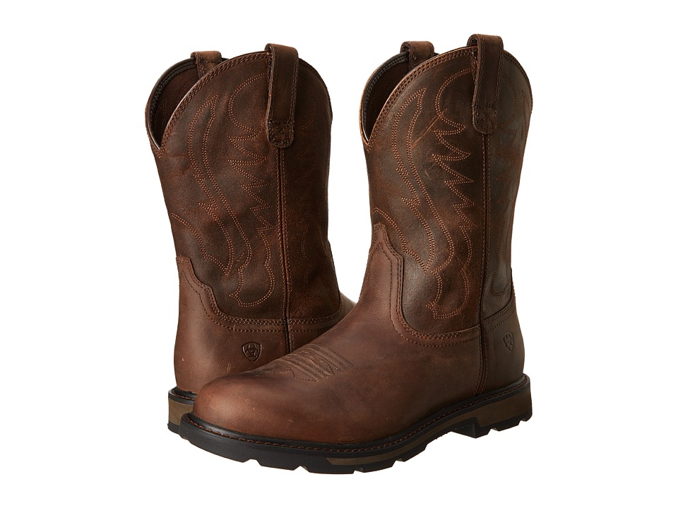 Ariat - Groundbreaker Pull-On (Brown) Cowboy Boots