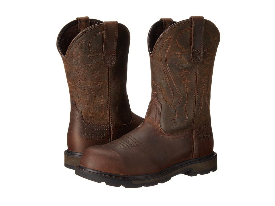Ariat - Groundbreaker Pull-on Steel Toe (Brown) Mens Shoes