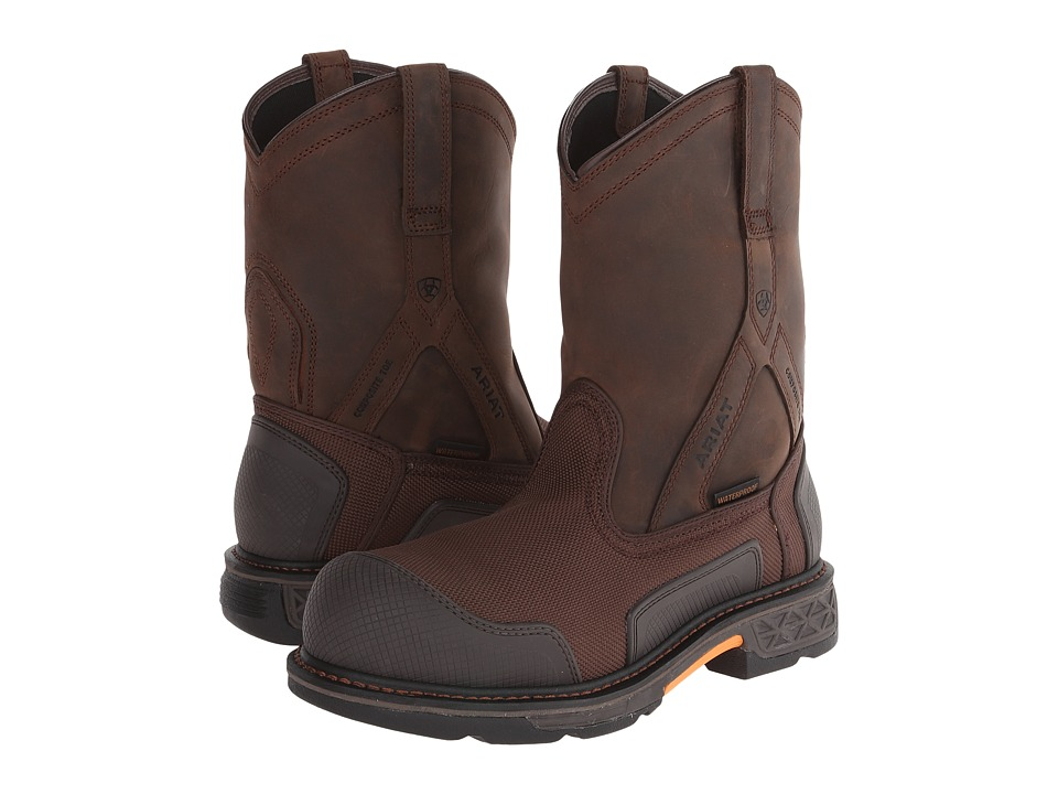 Ariat - Overdrive XTR Pullon H20 (Brown Cordura/Oily Distressed Brown) Mens Work Boots