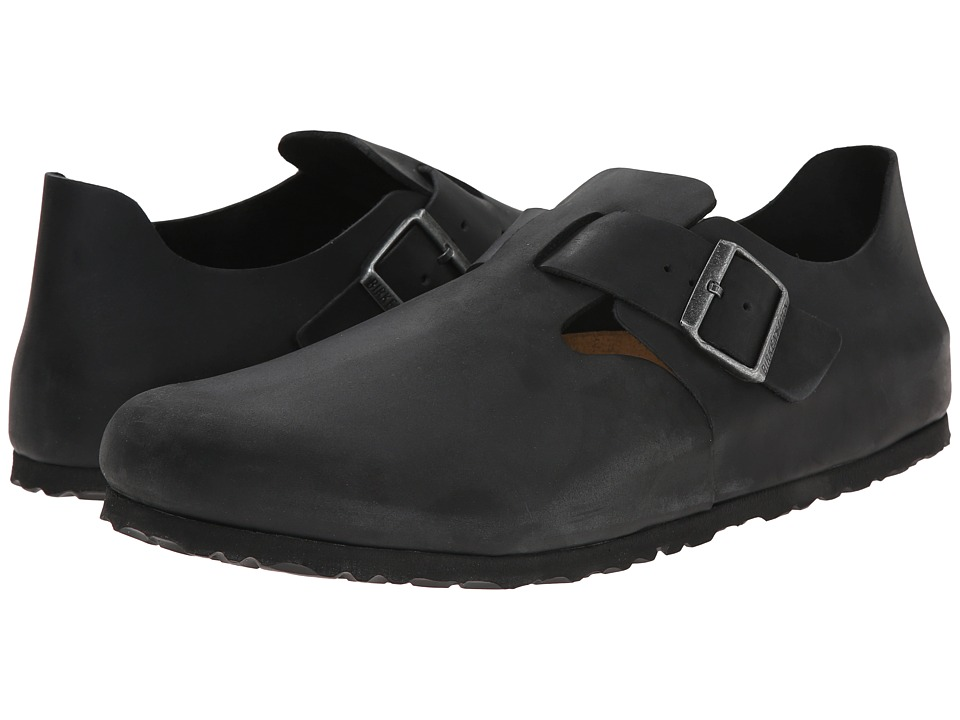 Birkenstock - London (Black Oiled Leather 1) Slip on  Shoes