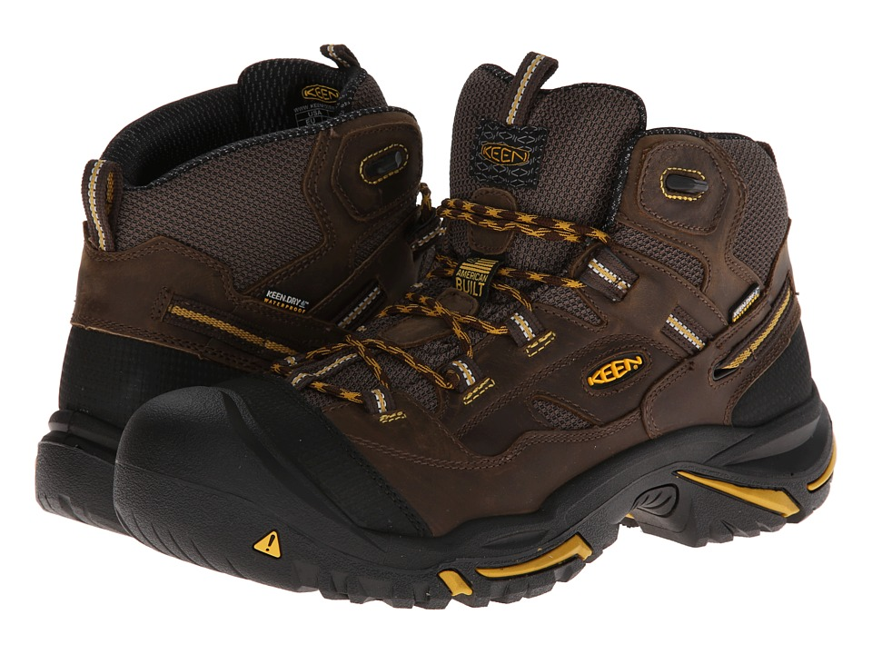 Keen Utility - Braddock Mid WP (Cascade Brown/Tawny Olive) Mens Work Lace-up Boots
