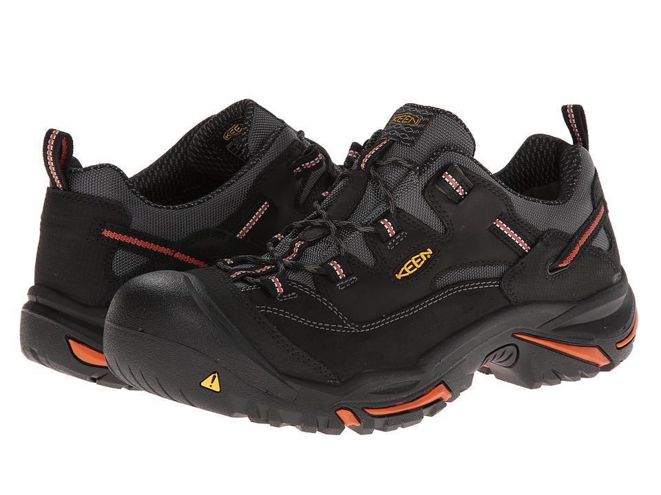 Keen Utility - Braddock Low (Black/Bossa Nova) Mens Work Lace-up Boots