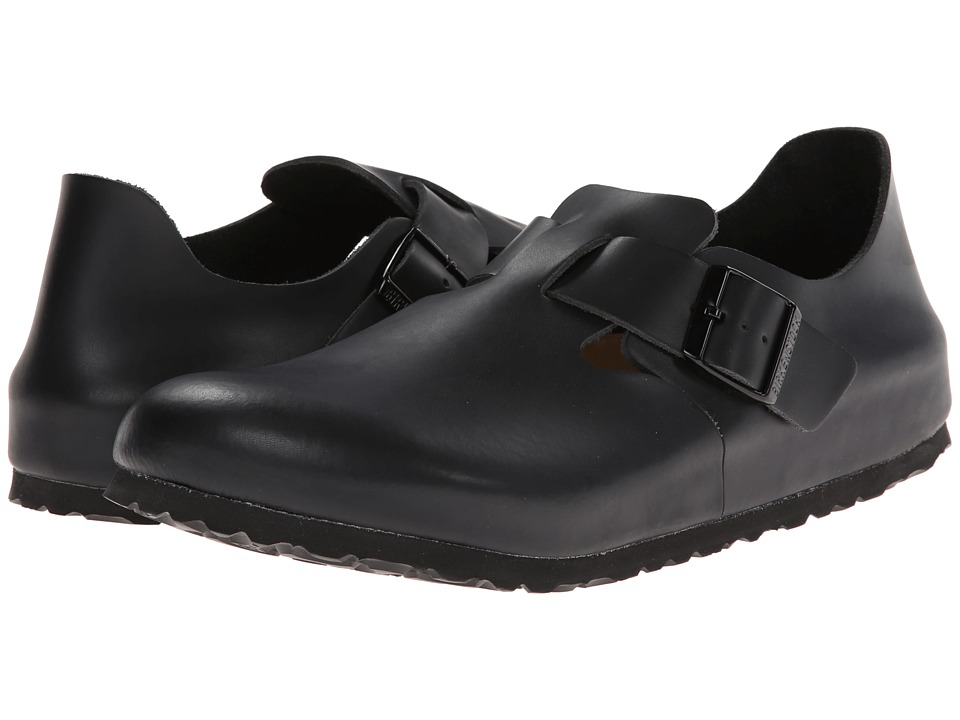 Birkenstock London Soft Footbed (Hunter Black Leather) Shoes