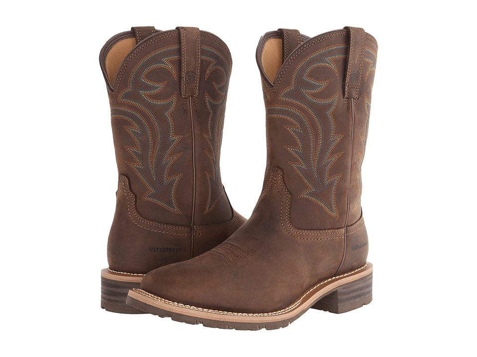 Ariat Hybrid Rancher (Oily Distressed Brown) Cowboy Boots