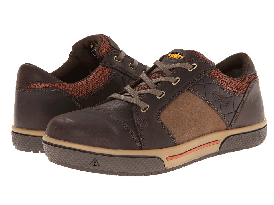 Keen Utility - Destin Low (Cascade Brown/Bombay Brown) Mens Work Lace-up Boots