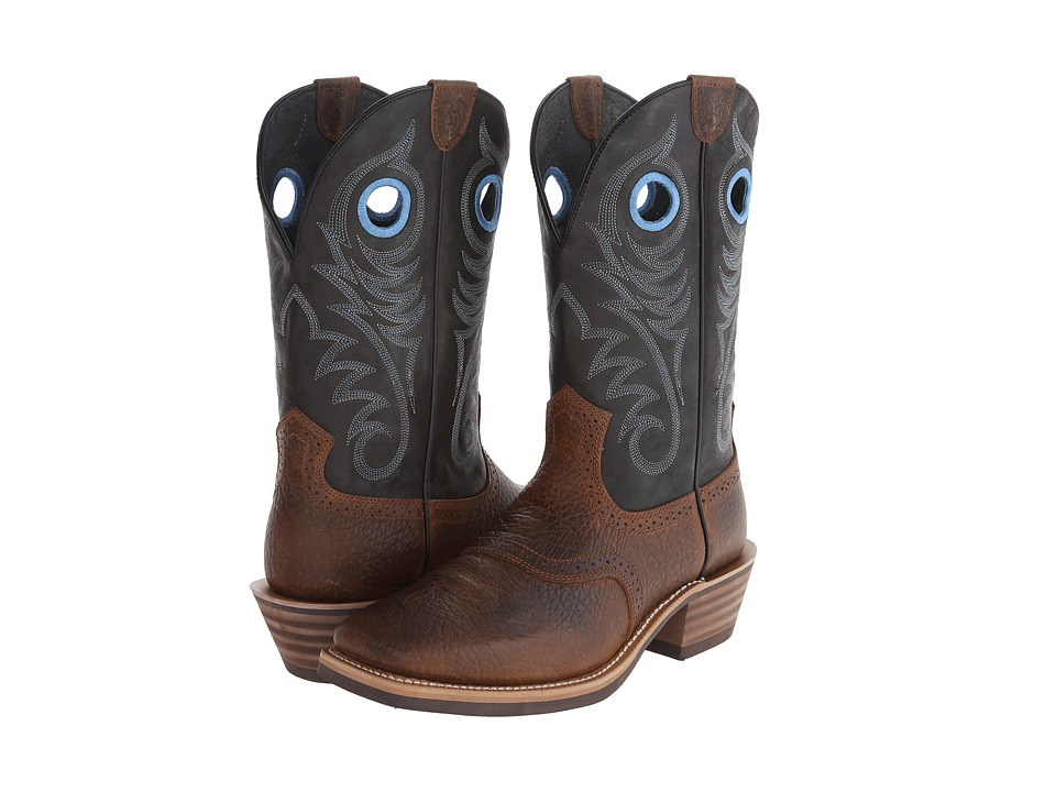 Ariat Heritage Roughstock (Earth/Vintage Black) Cowboy Boots