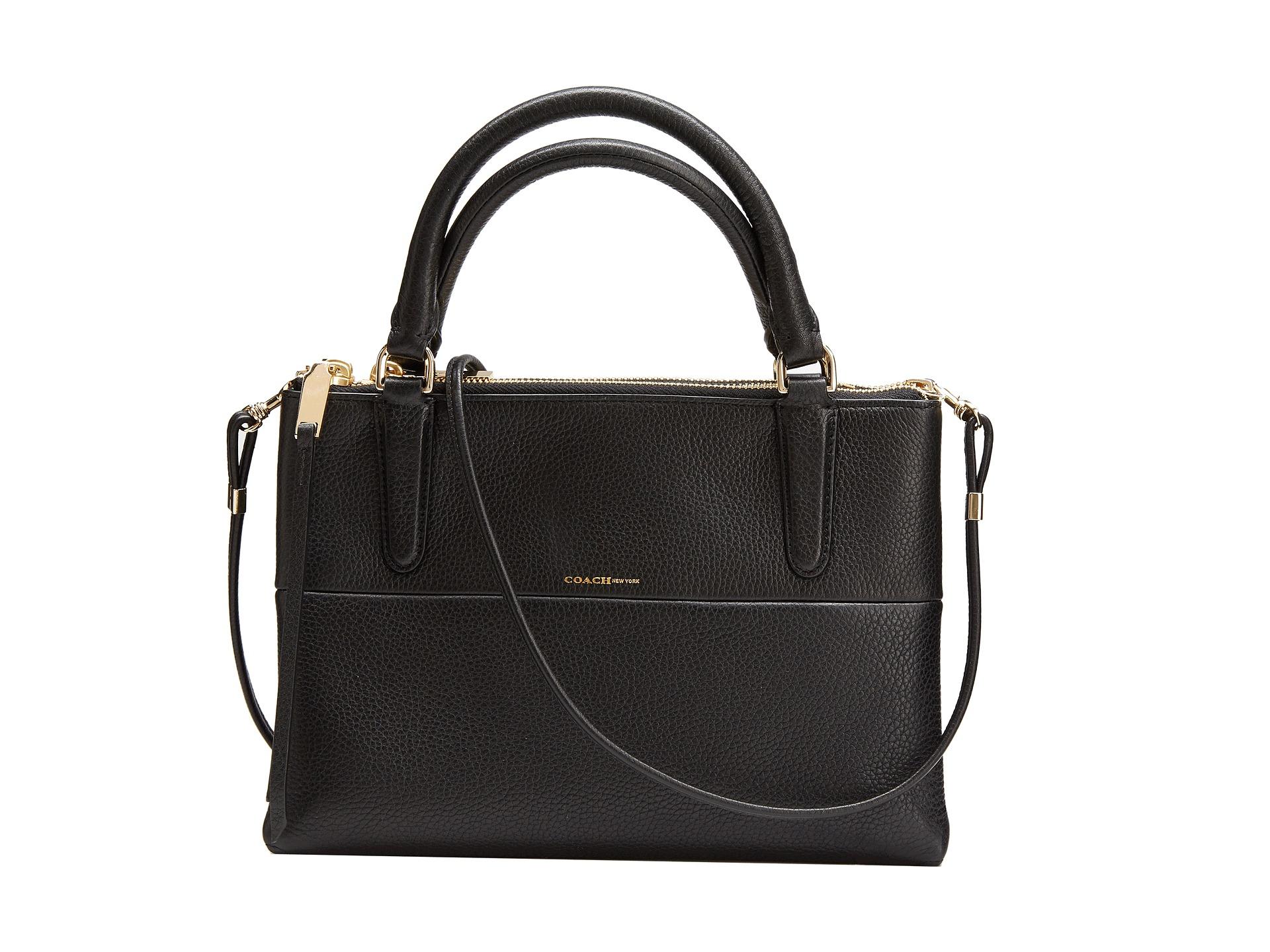 coach the mini borough bag pebbled leather shipped free