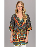 Christin Michaels - Aztec Print Top
