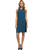 tibi - Arden Crepe w/ Chantilly Lace Sleeveless Dress