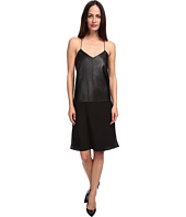 tibi - Leather w/ Silk Slip Dress