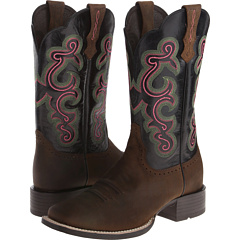 QuickDraw (Distressed Brown/Black) Cowboy Boots