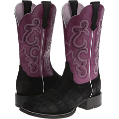 QuickDraw (Black Buffed Gator Print/Fig) Cowboy Boots