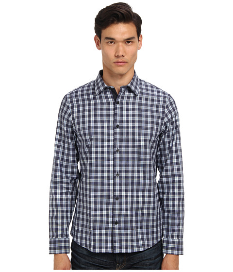 Get cheap michael kors collection odin plaid tailored for How much to get a shirt tailored