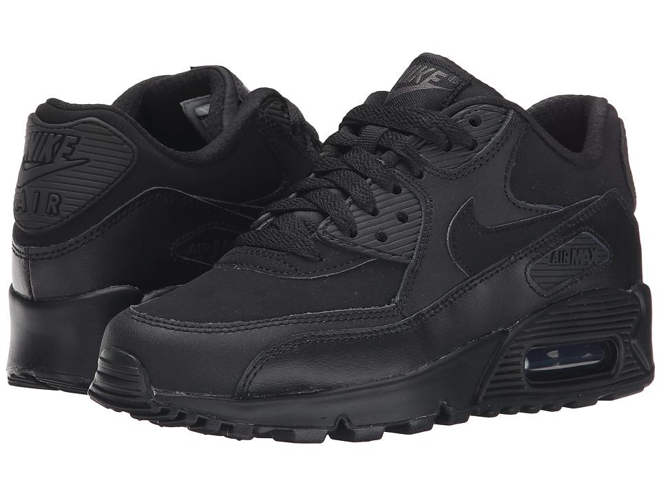 Nike Kids Air Max 90 Big Kid Black/Dark Grey Boys Shoes