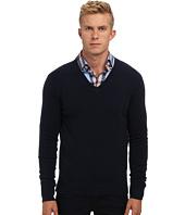 Michael Kors Collection - Stepped Hem V-Neck Cashmere Sweater