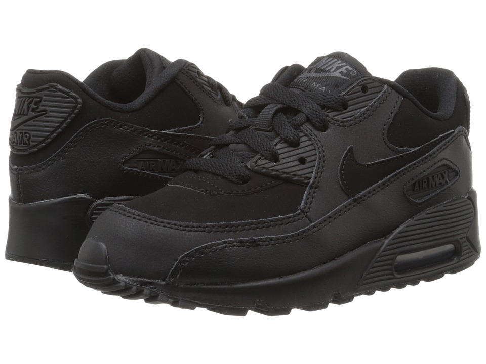 Nike Kids Air Max 90 Little Kid Black/Dark Grey Boys Shoes