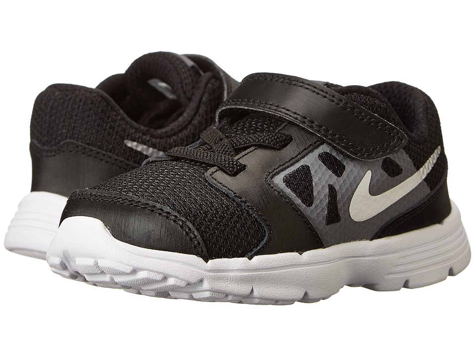 Nike Kids Downshifter 6 (Infant/Toddler) (Black/Cool Grey/White/Metallic Silver) Boys Shoes