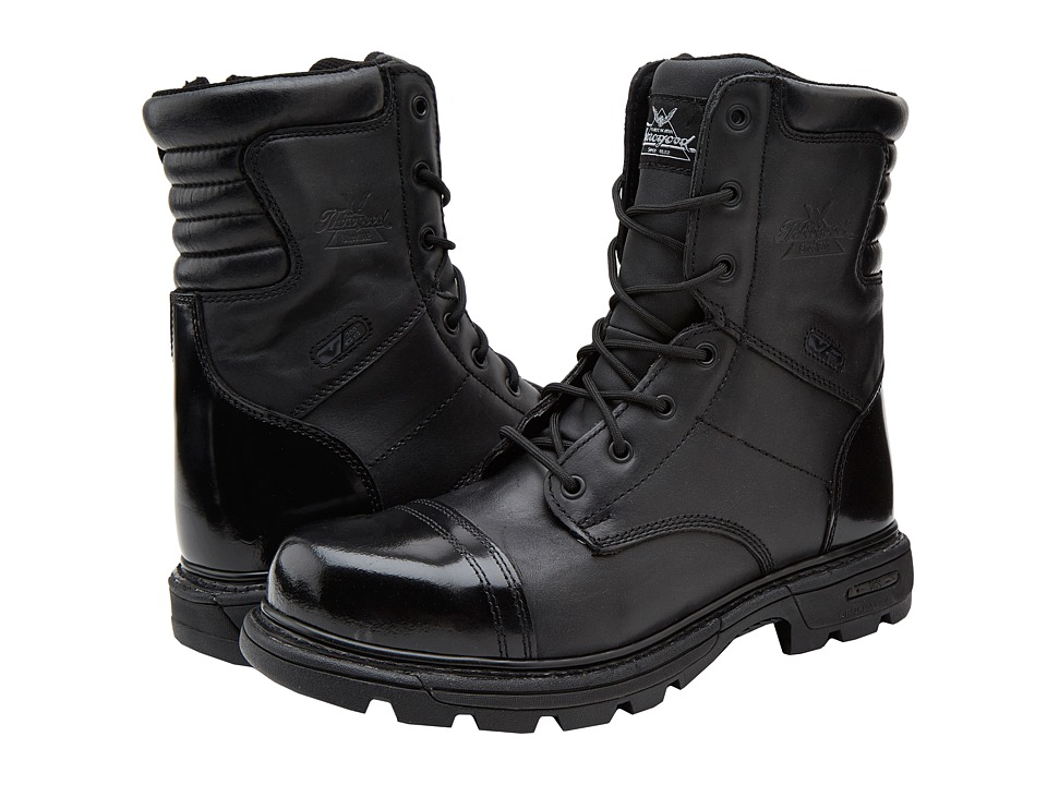 Thorogood - 8 Inch Side Zipper Work Boot (Black) Mens Work Boots