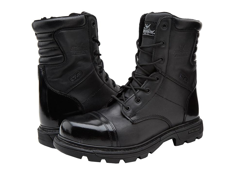 Thorogood 8 Inch Side Zipper Work Boot Black Mens Work Boots