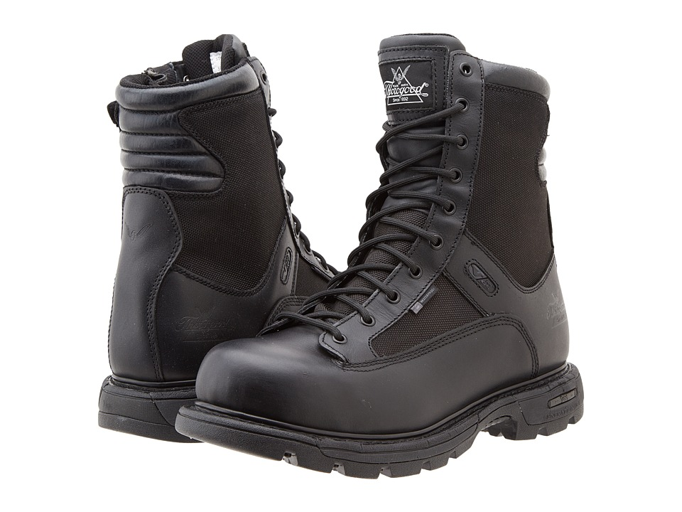 Thorogood 8 Inch Trooper Side Zip Black Mens Work Boots