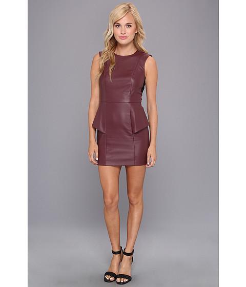 BCBGeneration Faux Leather Peplum Dress