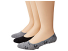 Sperry Top-Sider - Anchor Canoe Liner 3 Pack (Charcoal Heather/Black)