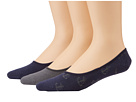 Sperry Top-Sider - Anchor Canoe Liner 3 Pack (Classic Navy/Charcoal)