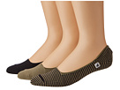 Sperry Top-Sider - Skimmers Feed Stripe 3 Pack (Black/Taupe)