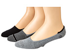 Sperry Top-Sider - Skimmers Feed Stripe 3 Pack (Black/Charcoal Heather)