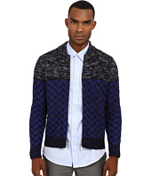 Just Cavalli - Duel Pattern Knit Zip Sweater
