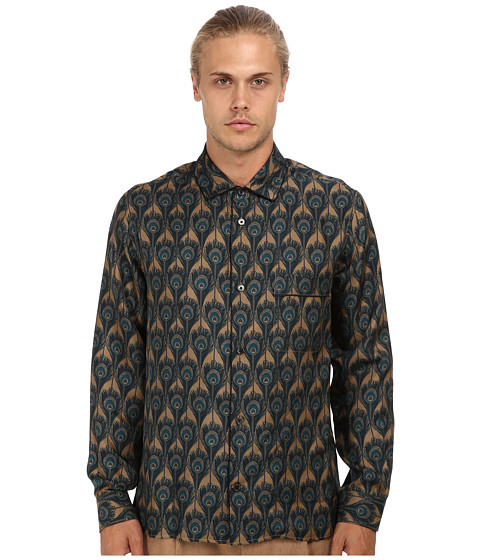 Marc Jacobs Runway Silk Peacock Button Up