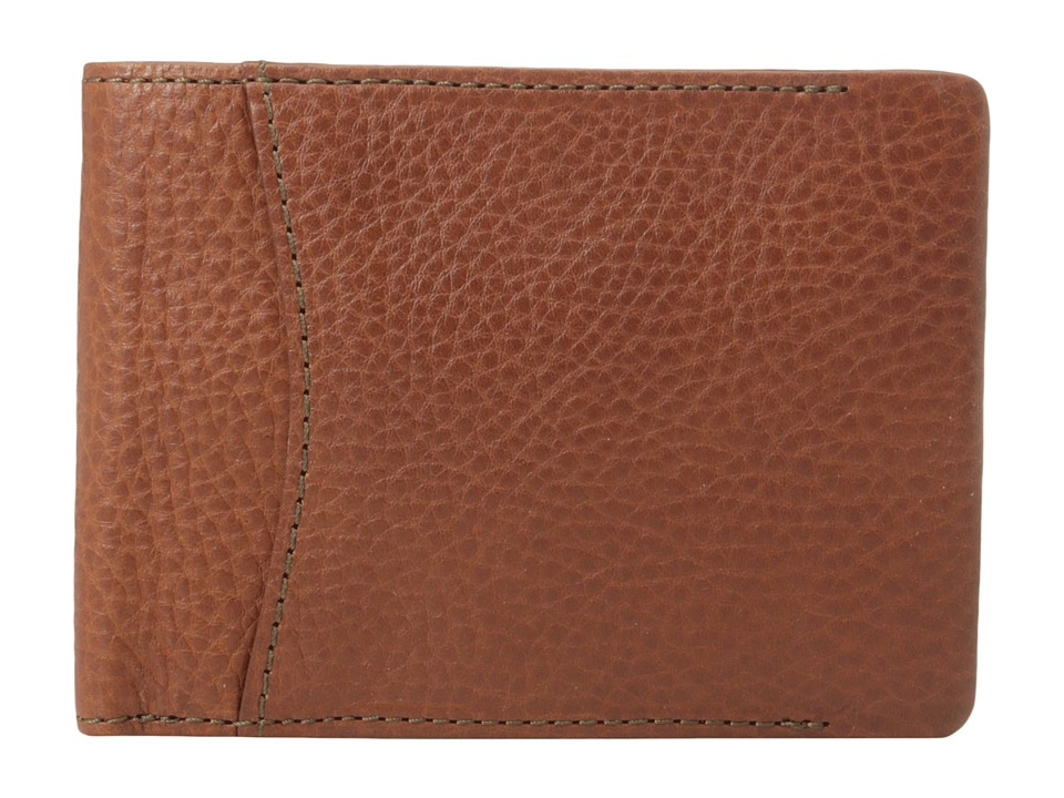 Bosca Correspondent Credit Wallet w/ I.D. Passcase Chestnut Bi fold Wallet