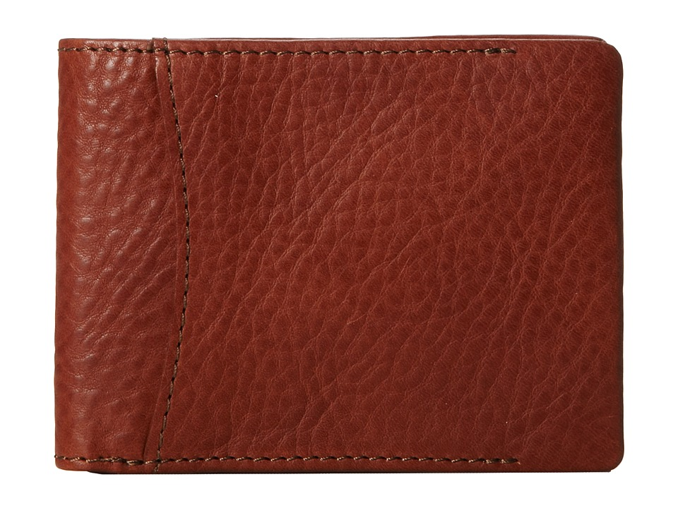 Bosca - Correspondent - 8 Pocket Deluxe Executive Wallet (Chestnut) Wallet Handbags