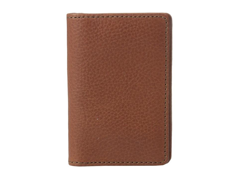 Bosca Correspondent Full Gusset Two Pocket Card Case w/ I.D. Chestnut Credit card Wallet