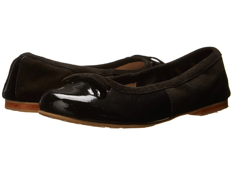 Elephantito Milano Flats Toddler/Little Kid/Big Kid Patent Black Girls Shoes