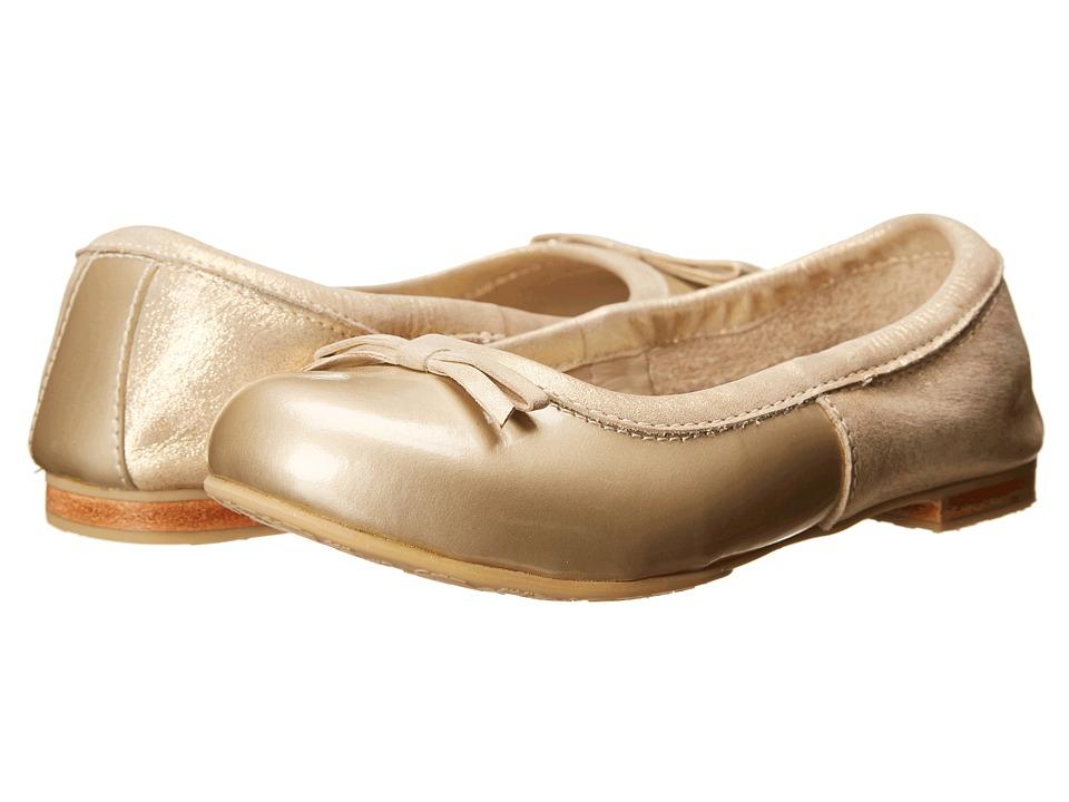 Elephantito Milano Flats Toddler/Little Kid/Big Kid Metallic Gold Girls Shoes