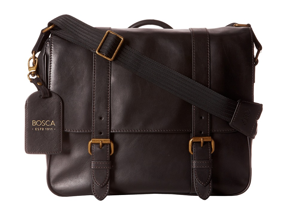 Bosca Taconni Messenger Bag (Black) Messenger Bags