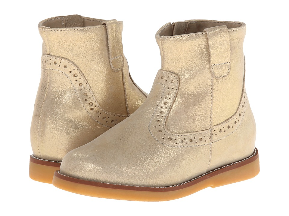 Elephantito Madison Ankle Boot Toddler/Little Kid/Big Kid Gold Girls Shoes