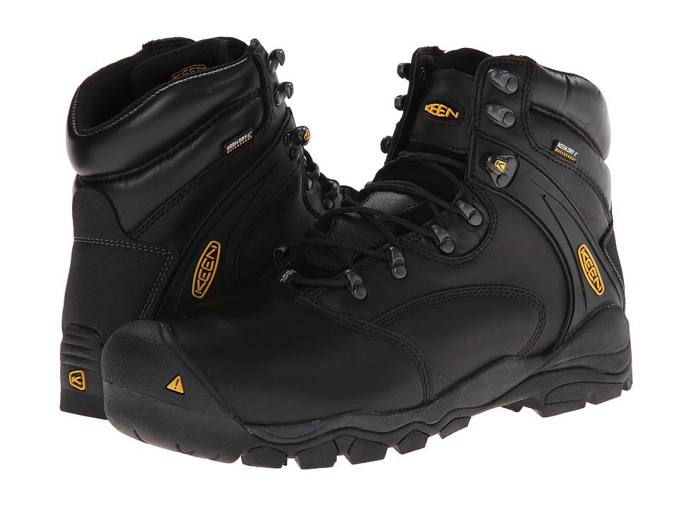 Keen Utility - Louisville 6 Steel Toe (Black) Mens Lace-up Boots